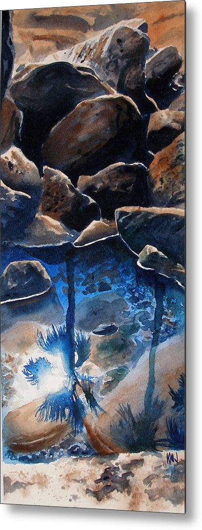 Seascape Metal Print featuring the painting Reflections by Ken Meyer
