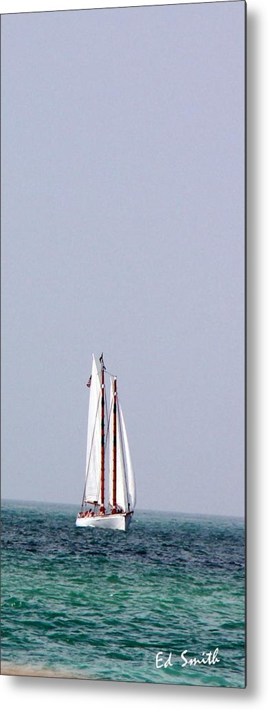 Sail Metal Print featuring the photograph Sail Boat Book Marker by Ed Smith