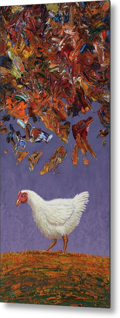 Chicken Little Metal Print featuring the painting The Sky Is Falling by James W Johnson