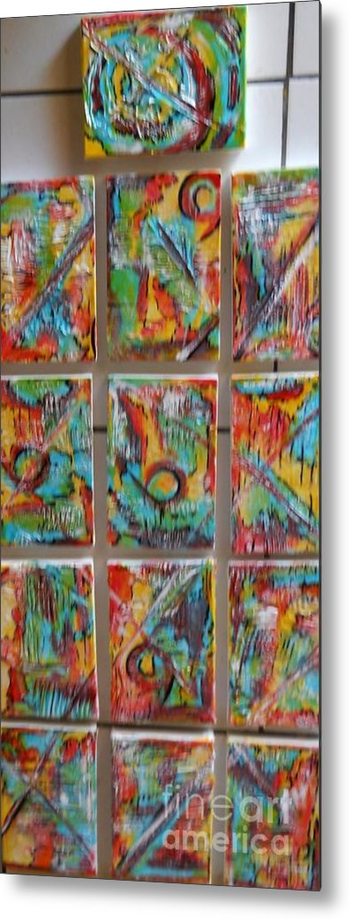 Abstract Metal Print featuring the painting Totem by Hilton Woodside