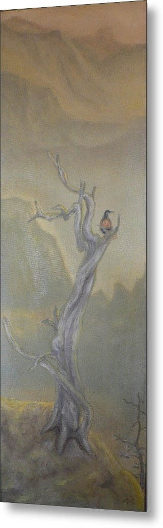 Bird Metal Print featuring the painting Lone Sentinel by Dan Bozich