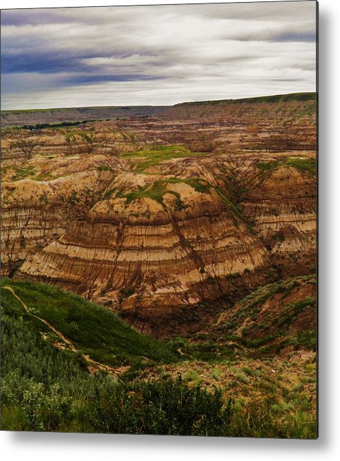 Landscape Metal Print featuring the photograph Horse Theif Canyon by Sharleen Adam