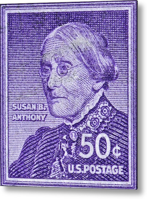 1954 1961 Metal Print Featuring The Photograph Susan B Anthony Stamp
