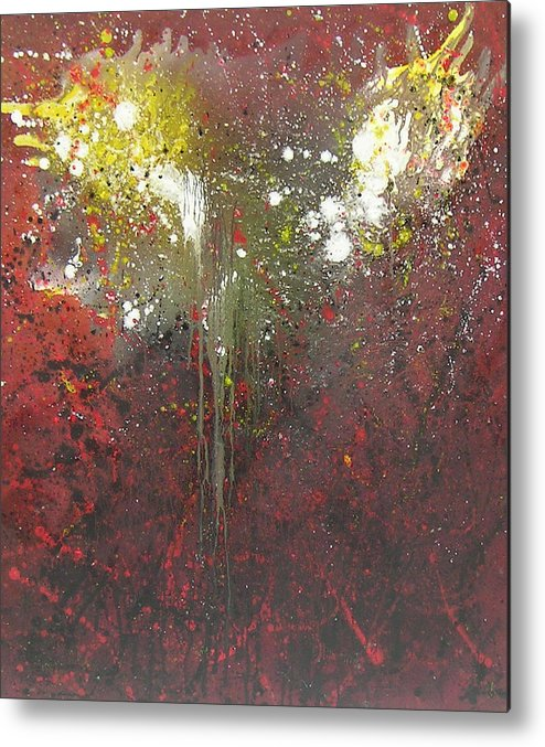 Abstract Metal Print featuring the painting Abstract1 by Min Zou
