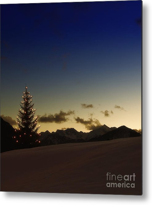 Weihnachten Metal Print featuring the photograph Christmas Tree by Fabian Roessler