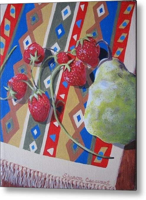 Fruit Metal Print featuring the painting Colorful Fruit by Sharon Casavant