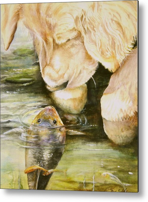 Animals Metal Print featuring the painting Favourite Friends by Patricia Schneider Mitchell