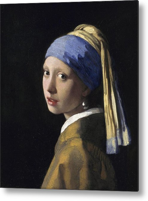 7b38fc01bcd Johannes Vermeer Metal Print featuring the painting Girl With A Pearl  Earring by Johannes Vermeer