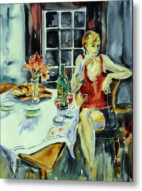 Woman Metal Print featuring the painting Isabelle From Paris -  by Trudi Doyle