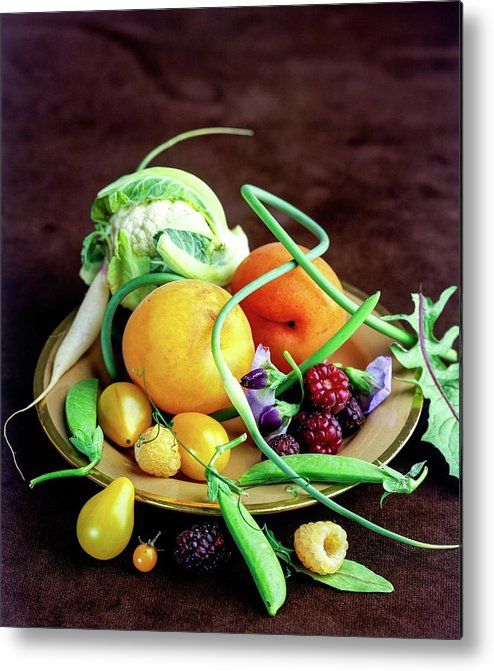 Fruits Metal Print featuring the photograph Seasonal Fruit And Vegetables by Romulo Yanes