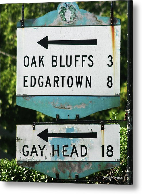 Street Metal Print featuring the photograph Signs Of Simpler Times Marthas Vineyard Massachusetts by Michelle Constantine