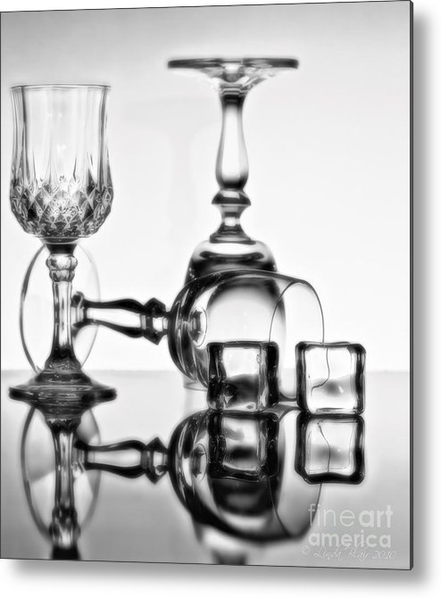 Cocktail Glasses Metal Print featuring the photograph The Party's Over by Linda Blair
