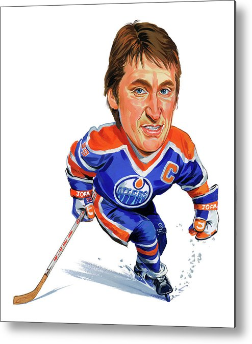 Wayne Gretzky Metal Print featuring the painting Wayne Gretzky by Art