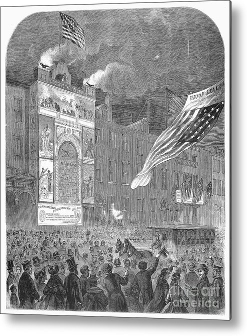 1864 Metal Print featuring the photograph Abolition Of Slavery, 1864 by Granger