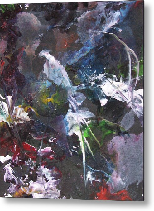 Encaustic Metal Print featuring the painting Beneath The Surface by Ramona Hartley