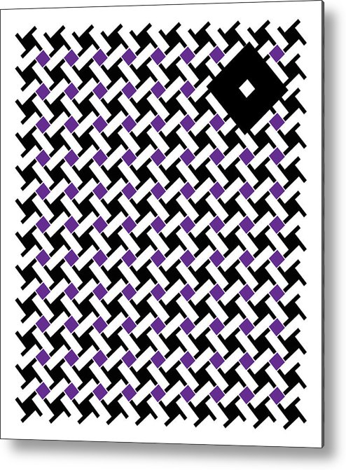 Abstract Metal Print featuring the digital art Black Flag 4. by Nancy Mergybrower