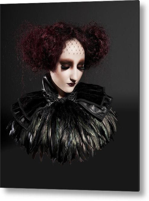 Fashion Metal Print featuring the photograph Elizabethan Girl by Thomas Bedson