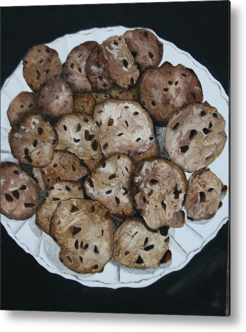 Cookies Metal Print featuring the painting Fresh From The Oven by Betty-Anne McDonald