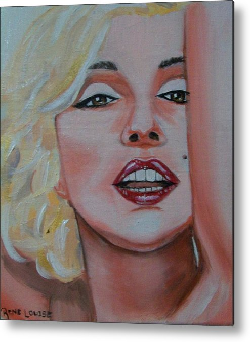 Marilyn Munroe Metal Print featuring the painting Marilyn by Reneza Waddell