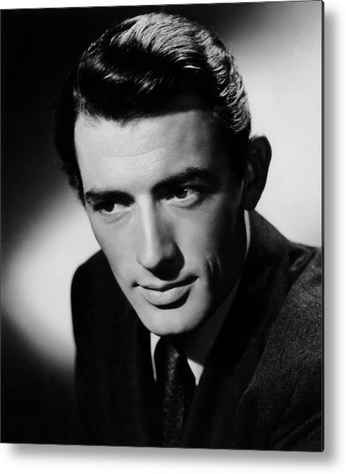 1940s Portraits Metal Print featuring the photograph Spellbound, Gregory Peck, 1945 by Everett