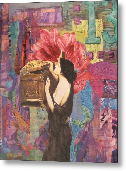 Collage Metal Print featuring the mixed media What If by Kanchan Mahon