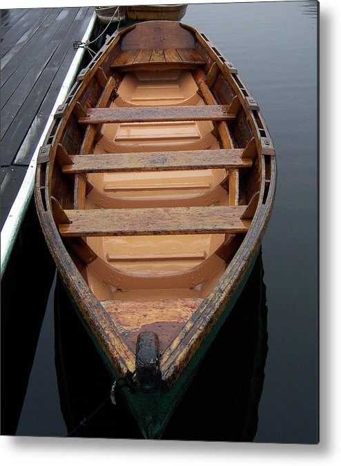 Metal Print featuring the photograph Canoe by Iris Posner