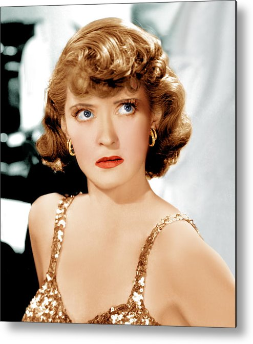 1930s Hairstyles Metal Print featuring the photograph Marked Woman, Bette Davis, 1937 by Everett