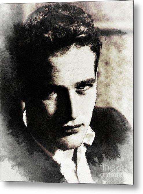 Paul Metal Print featuring the digital art Paul Newman, Actor by John Springfield