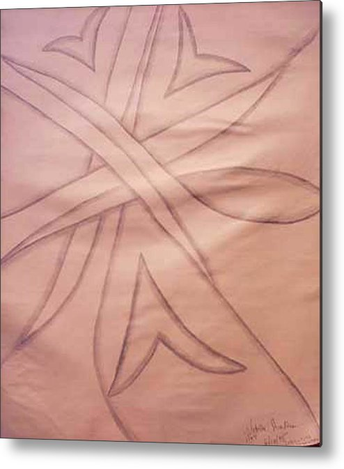 Abstract Metal Print featuring the drawing Untitled by Natalee Parochka