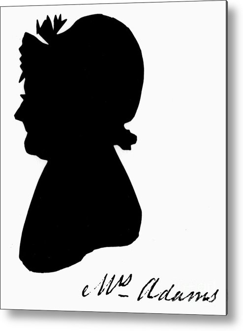 19th Century Metal Print featuring the painting Abigail Adams by The Granger Collection