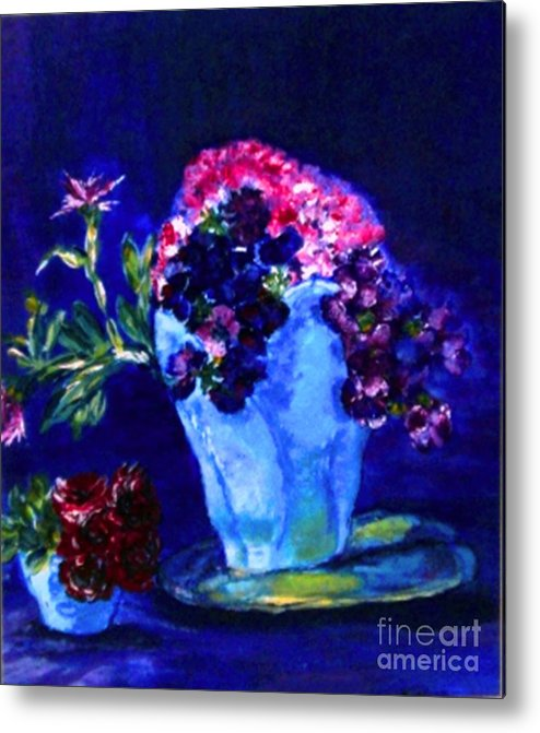 Flowers Metal Print featuring the painting Admire by Helena Bebirian
