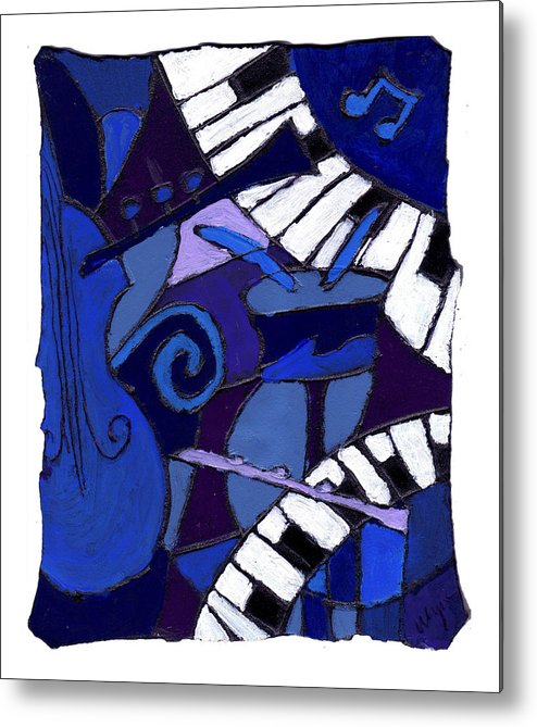 Jazz Metal Print featuring the painting All That Jazz 3 by Wayne Potrafka