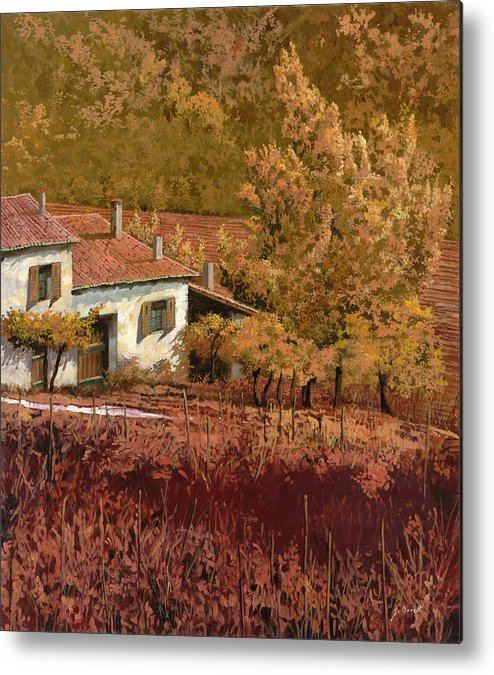 Autumn Metal Print featuring the painting Autunno Rosso by Guido Borelli