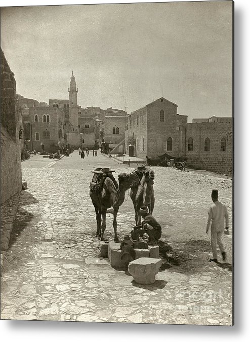 1911 Metal Print featuring the photograph Bethlehem: Street, C1911 by Granger