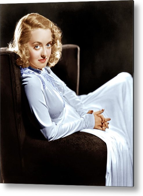 1930s Portraits Metal Print featuring the photograph Bette Davis, Ca. Late 1930s by Everett