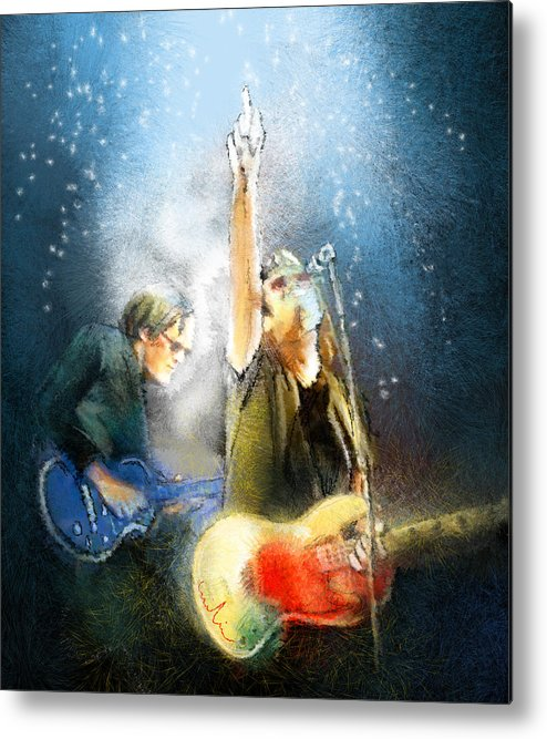 Music Metal Print featuring the painting Black Country Communion 02 by Miki De Goodaboom
