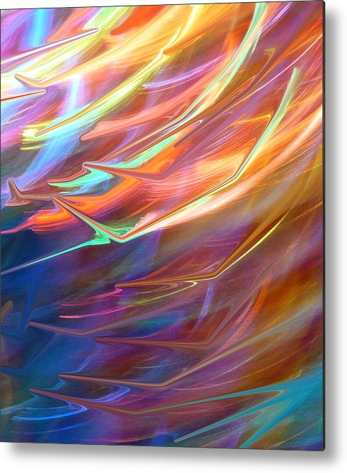 Abstract Metal Print featuring the photograph Blown Away by Florene Welebny