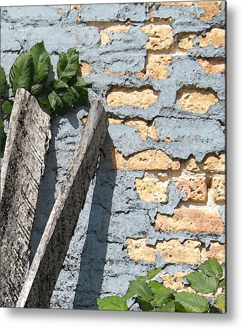 Brick Metal Print featuring the photograph Blue Brick by Gary Everson