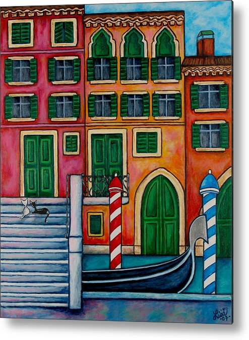 Venice Metal Print featuring the painting Colours Of Venice by Lisa Lorenz