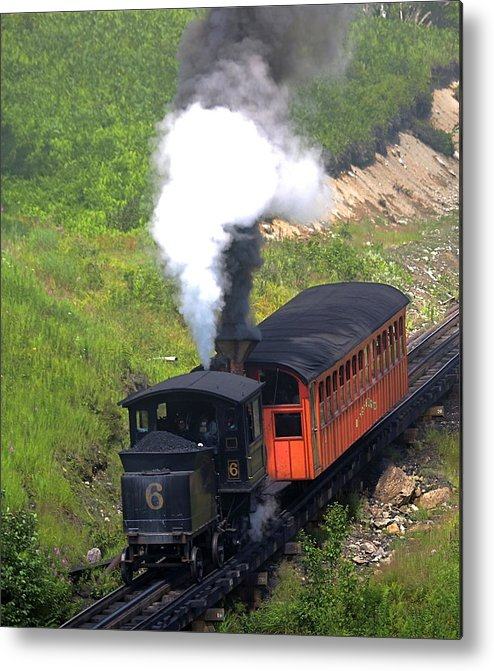 Train Metal Print featuring the photograph Coming Down The Mountain by Peter Gray