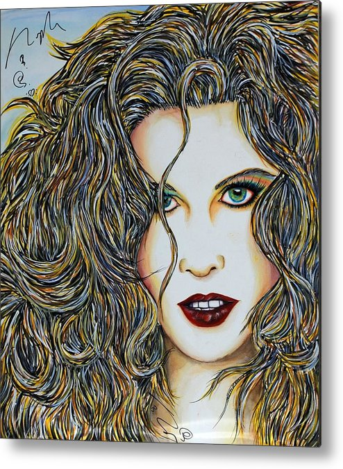 Actress Metal Print featuring the mixed media Dam...lay Me Down by Joseph Lawrence Vasile