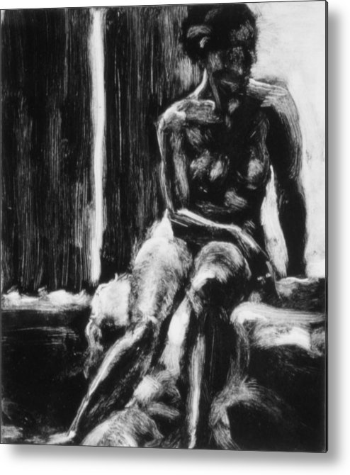 Woman Metal Print featuring the painting Female IIi by John Clum