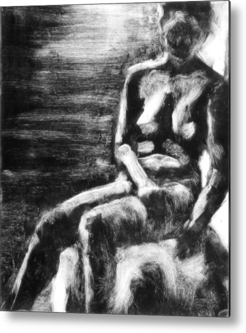 Female Metal Print featuring the painting Female Iv by John Clum