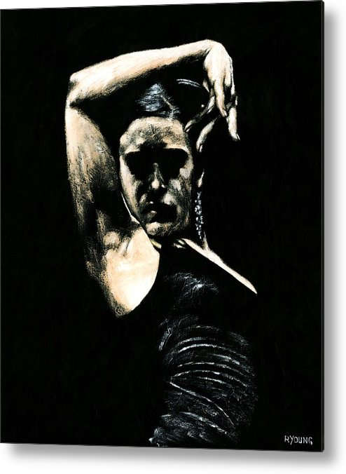 Fanny Ara Metal Print featuring the painting Flamenco Soul by Richard Young