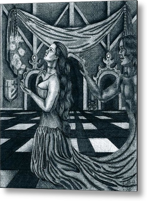 Fantasy Metal Print featuring the drawing Hopes And Dreams by Scarlett Royal