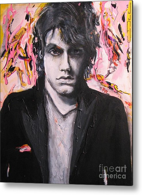 Celebrity Portraits Metal Print featuring the painting John Mayer by Eric Dee