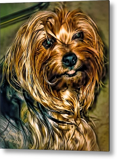 Maggie Metal Print featuring the photograph Maggie Smiles by Kathy Tarochione