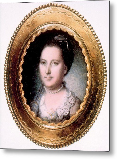 First Lady Metal Print featuring the photograph Martha Washington 1731-1802, First Lady by Everett