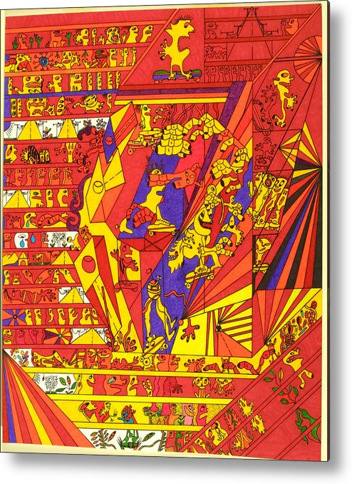 Sports Metal Print featuring the drawing Max Games by Eric Devan