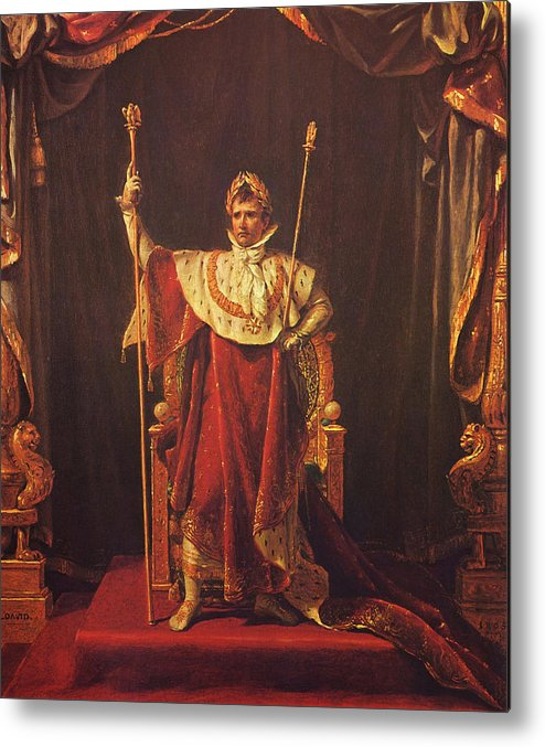 Napoleon Metal Print featuring the painting Napoleon by War Is Hell Store